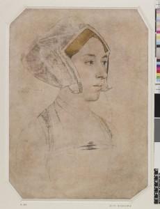 'Anne Bullen decollata fuit Londini 19 May 1536', Holbein, British Museum
