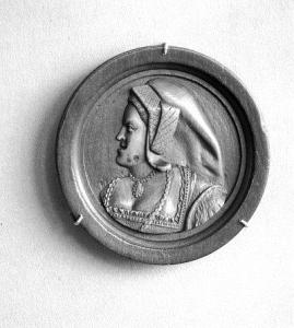 Katarzyna Aragońska, medal z c. 1535-40 r., obecnie znajdujący się w V&A Museum