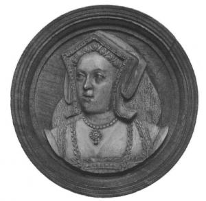 Pionek do gry z wizerunkiem Katarzyny Aragońskiej, c. 1535, obecnie znajdujący się w Kunsthistorisches Museum w Wiedniu