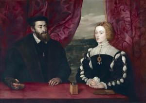 Karola V z żoną, Izabellą Portugalską